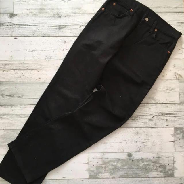 Rising Sun & Co フェイクアルファ ブラックパンツ メンズのパンツ(デニム/ジーンズ)の商品写真