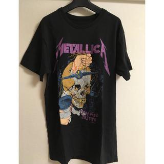 メタリカバンドTシャツ Metallica damaged justice(Tシャツ/カットソー(半袖/袖なし))