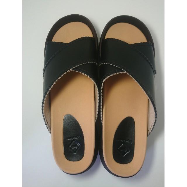 Regetta Canoe(リゲッタカヌー)のRegetta Canoe リゲッタ カヌー サンダル 黒 BLK LLサイズ レディースの靴/シューズ(サンダル)の商品写真