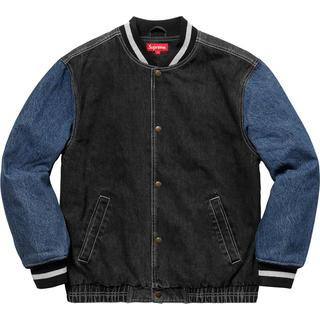 シュプリーム(Supreme)のsupreme Denim varsity jacket Lサイズ(Gジャン/デニムジャケット)