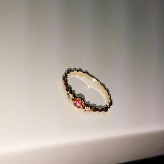 リング K10  ピンクゴールド ダイヤ(リング(指輪))