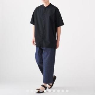 ムジルシリョウヒン(MUJI (無印良品))のMUJI Labo 綿 ブロード スタンドカラー ロングシャツ(シャツ)