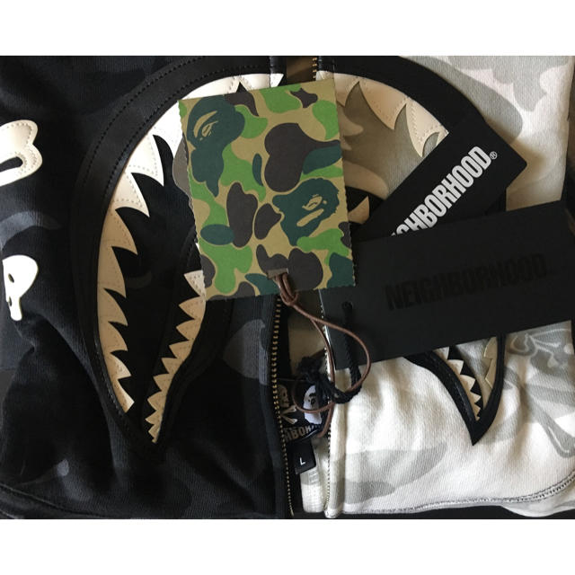 A BATHING APE(アベイシングエイプ)のサイズ L BAPE NBHD SHARK FULLZIP HOODIE メンズのトップス(パーカー)の商品写真