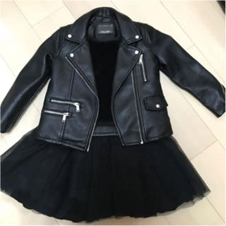 ZARA KIDS - 美品ZARA GIRL ライダースジャケット 116cm