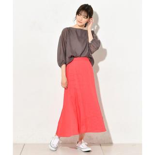 ガリャルダガランテ(GALLARDA GALANTE)の新品リネン素材フレアースカート(ロングスカート)