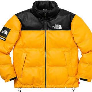 Supreme - Supreme/TNF Leather Nuptse Jacket S