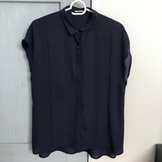GU(ジーユー)のGU エアリーシャツ ブラウス レディースのトップス(シャツ/ブラウス(半袖/袖なし))の商品写真