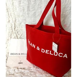 ディーンアンドデルーカ(DEAN & DELUCA)の新品 未使用 DEAN&DELUCA 5周年限定☆トートバッグ 赤 大きいサイズ(トートバッグ)