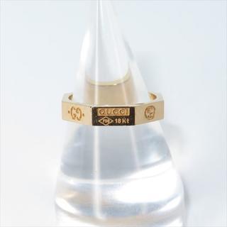 グッチ(Gucci)のグッチ マルチロゴ刻印八角形オクタゴンリング 750PG 11号(リング(指輪))