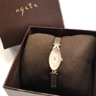 agete - agete オーバル フェイスジュエリーウォッチ 1YG時計