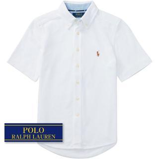 ラルフローレン(Ralph Lauren)の☆新品☆160 ラルフローレン 半袖シャツ ホワイト 2114(ブラウス)