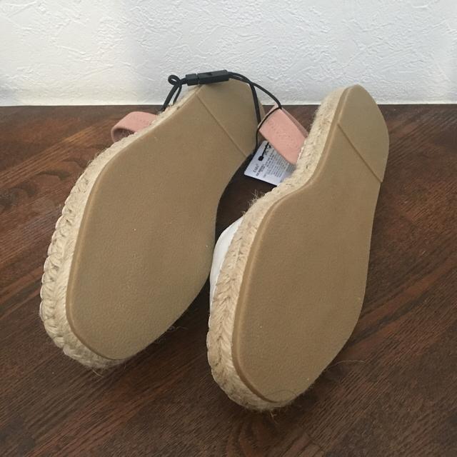 ZARA(ザラ)のZara ) エスパドリーユ ジュート ストラップ付き 37 レディースの靴/シューズ(サンダル)の商品写真
