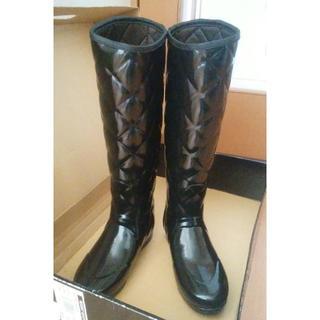 ハンター(HUNTER)の最終価格♪【HUNTER】レインブーツ☆グロス☆キルテッド☆UK3☆約22cm(レインブーツ/長靴)