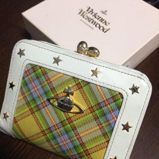 ヴィヴィアンウエストウッド(Vivienne Westwood)のVivienneWestwood 星 チェック柄 がま口 財布(財布)