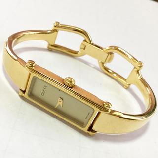 Gucci - GUCCI グッチ 腕時計 ゴールドカラー レディース 中古 20190617