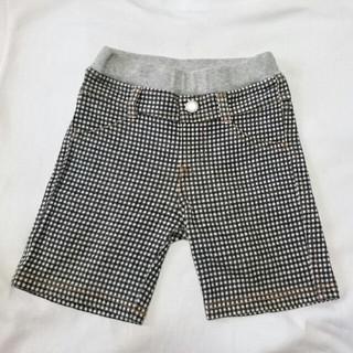 ユニクロ(UNIQLO)のUNIQLO ユニクロ 白×黒チェック柄 ハーフパンツ サイズ80(パンツ)