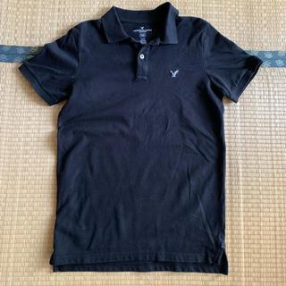 アメリカンイーグル(American Eagle)のアメリカンイーグル ポロシャツ ブラック(ポロシャツ)