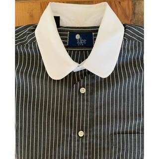 ラルフローレン(Ralph Lauren)のIKE BEHAR ラウンドカラー ストライプ L/Sシャツ ブラック ホワイト(シャツ)