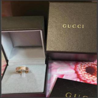 グッチ(Gucci)のGUCCI GUCCIアイコンスターダストリングk18 ピンクサファイア(リング(指輪))