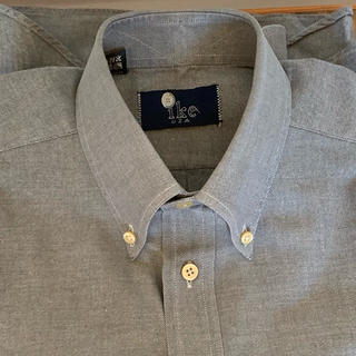 ラルフローレン(Ralph Lauren)のIKE BEHAR コットン ツイル ボタンダウン L/Sシャツ グレー(シャツ)
