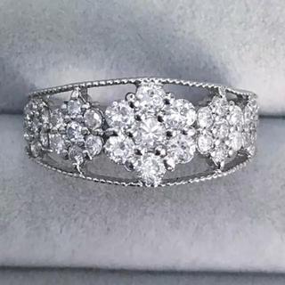 新品本物❤️プラチナ ダイヤモンド リング0.80ct♪(リング(指輪))