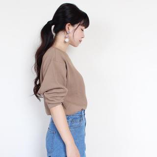 ユニクロ(UNIQLO)のユニクロUNIQLOワッフルクルーネックTシャツロンT(Tシャツ(長袖/七分))