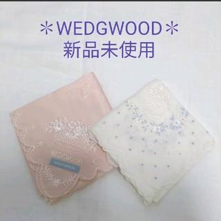 ウェッジウッド(WEDGWOOD)のWEDGWOOD✽コットンハンカチーフ✽新品未使用(ハンカチ)