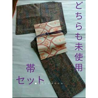 個性的な紬×紬帯✨(着物)