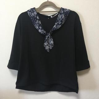 シマムラ(しまむら)の七分袖 トップス スカーフ風デザイン(カットソー(長袖/七分))