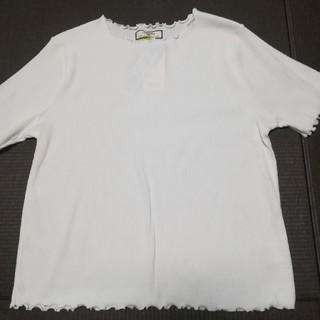 シマムラ(しまむら)の【新品】白 カットソー(カットソー(半袖/袖なし))