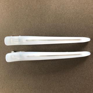 ムジルシリョウヒン(MUJI (無印良品))の無印良品 ヘアクリップ二本 白(バレッタ/ヘアクリップ)
