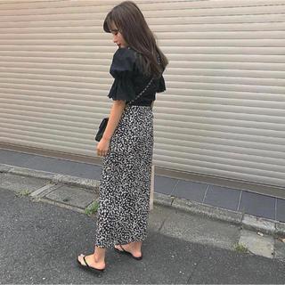 mystic - 新品 巻きスカート マキシスカート  小花柄 ラップスカート ロングスカート