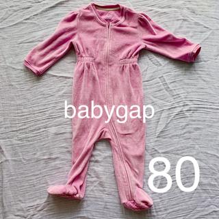 ベビーギャップ(babyGAP)のGAP 足付き厚手ロンパース フリース素材80〜90(ロンパース)