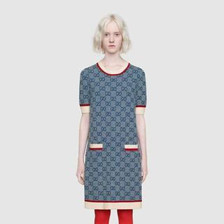 Gucci - 19SS GUCCI ブルー GGニットドレス