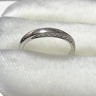 ニワカ(俄)の俄 「凛」プラチナマリッジリング  8.5号 NIWAKA(リング(指輪))