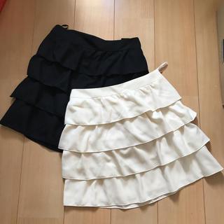 イング(INGNI)のINGNI スカート 白 黒(ミニスカート)