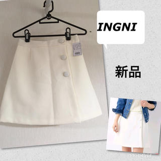 イング(INGNI)の新品 INGNIイング ミニスカート M 白 4212円 150 160(ミニスカート)