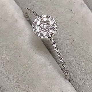 新品本物❤️k18ホワイトゴールド ダイヤモンドリング 0.10ct♪(リング(指輪))