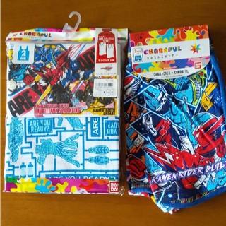 バンダイ(BANDAI)の新品 110 バンダイ 仮面ライダー ビルド 肌着 上下セット 定価2548円(下着)