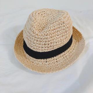 ベビーギャップ(babyGAP)のbabygap ストローハット 44cm 麦わら帽子(帽子)