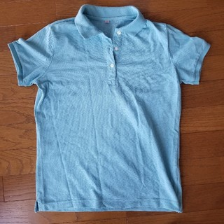ユニクロ(UNIQLO)の[ユニクロ]ポロシャツ水色レディースM(ポロシャツ)