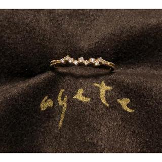 アガット(agete)の【販売証明有・美品】agete リング K18 ダイヤ(リング(指輪))