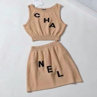 シャネル(CHANEL)のCHANEL シャネル スカート Tシャツ セーター ニット 2点セット S (ニット/セーター)