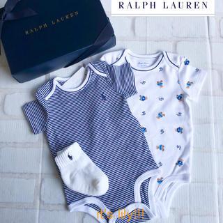 Ralph Lauren - 靴下プレゼント付? 12m80cm  ラルフローレン 半袖ロンパース  2点