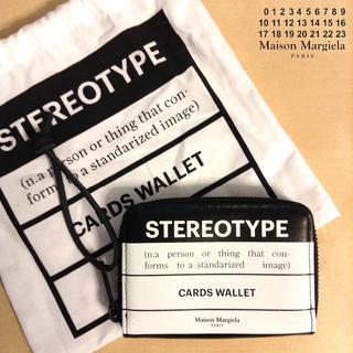 マルタンマルジェラ(Maison Martin Margiela)の新品■マルジェラ 19ss■カード ウォレット■コインケース■財布■黒■6254(長財布)