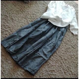 MUJI (無印良品) - 無印良品 MUJI  リネン ロングスカート