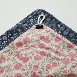 ループタオル おとなフラワー ピンク ハンドメイド(外出用品)