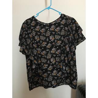 ジーユー(GU)のGU 花柄シフォンブラウス Lサイズ(シャツ/ブラウス(半袖/袖なし))