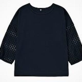 ユニクロ(UNIQLO)の新品ユニクロ*7分袖エンブロイダリーT(Tシャツ(長袖/七分))