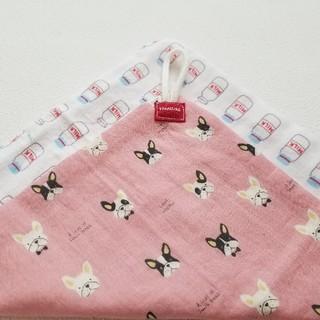ループタオル フレブル × ミルク ハンドメイド(外出用品)